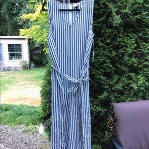 NWT- Striped Cotton Jumpsuit